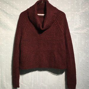 Bluenotes cropped burgundy sweater